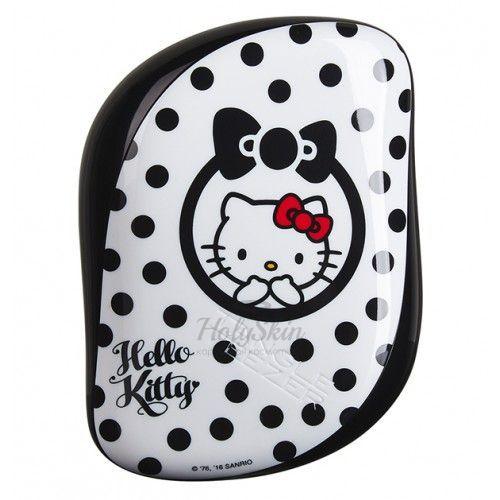 Купить Удобная миниатюрная расческа для ухода за волосами Tangle Teezer, Tangle Teezer Compact Styler Hello Kitty Black, Великобритания