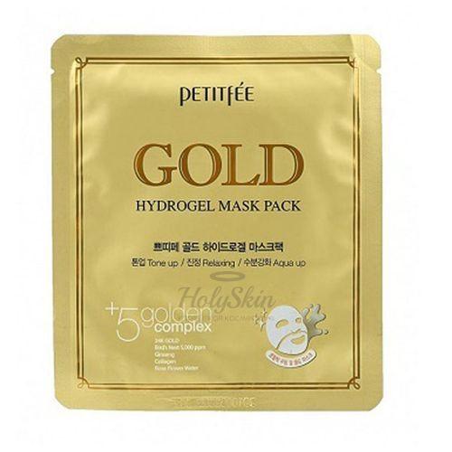 Купить Гидрогелевая маска с золотом Petitfee, Gold Hydrogel Mask Pack, Южная Корея