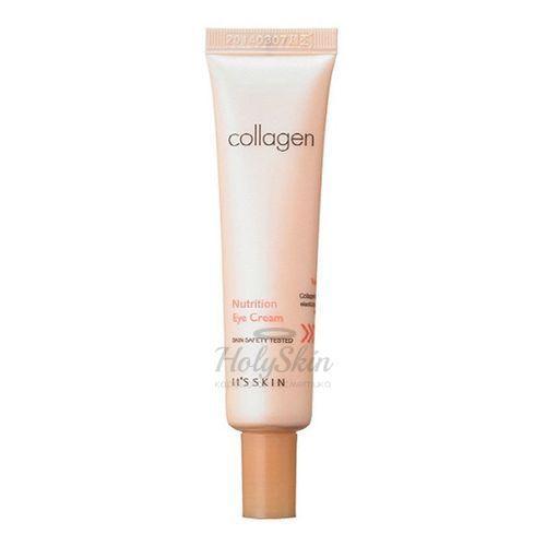 Купить Коллагеновый крем для век прекрасно справляется с начинающимися и уже существующими возрастными проблемами. It's Skin, Collagen Nutrition Eye Cream, Южная Корея