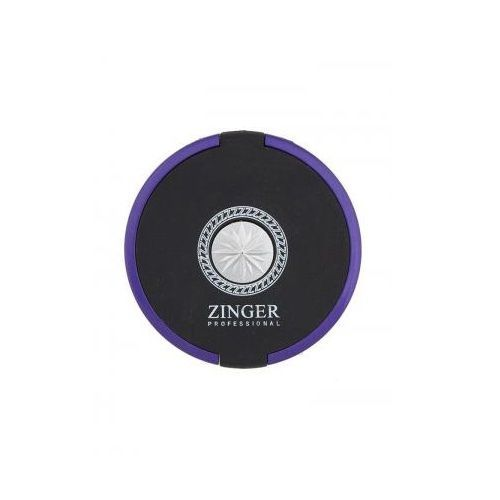 Компактное круглое зеркало черно-розовое Zinger — Компактное двухстороннее зеркало Zinger 3104-16