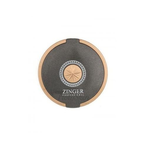 Купить Компактное круглое зеркало черно-золотистое Zinger, Компактное двухстороннее зеркало Zinger 3104-2, Германия