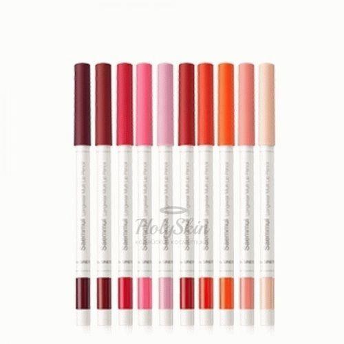 Купить Многофункциональный карандаш для губ The Saem, Saemmul Longwear Multi Lip Pencil, Южная Корея