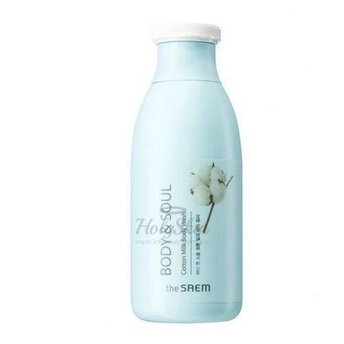 Купить Молочный гель для душа The Saem, Body and Soul Cotton Milk Body Wash, Южная Корея