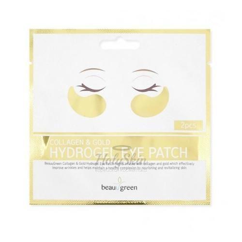 Купить Гидрогелевые патчи для глаз с коллагеном и золотом BeauuGreen, Collagen and Gold Hydrogel Eye Patch 2 pcs, Южная Корея
