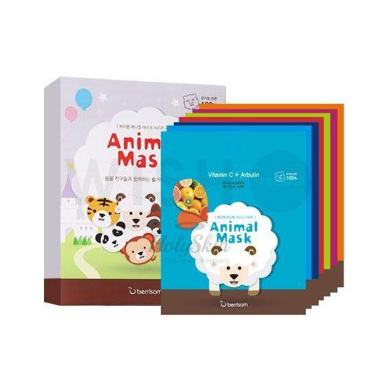 Набор тканевых звериных масок Berrisom, Animal Mask Series 7p Set, Южная Корея  - Купить