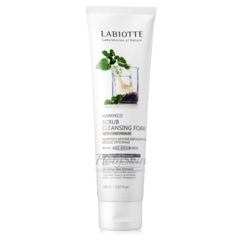 Marryeco Scrub Cleansing Foam With Lemonbalm Labiotte
