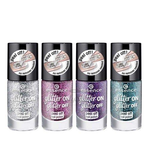 Купить Глиттерный лак для ногтей Essence, Glitter On Glitter Off Peel Off Nail Polish, Германия