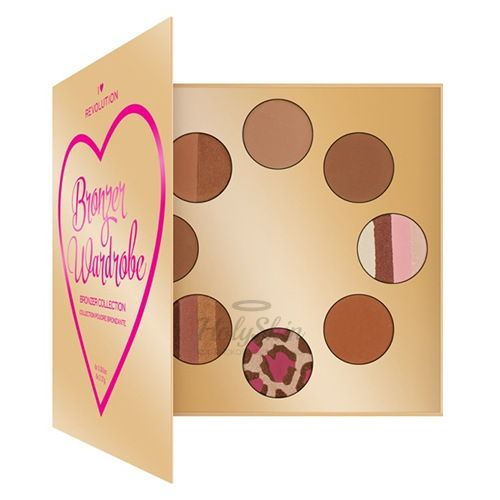 Палетка бронзаторов MakeUp Revolution — I Heart Revolution Bronzer Wardrobe