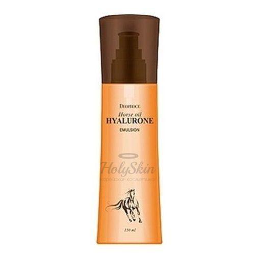 Купить Эмульсия для лица с лошадиным жиром Deoproce, Horse Oil Hyalurone Emulsion, Южная Корея
