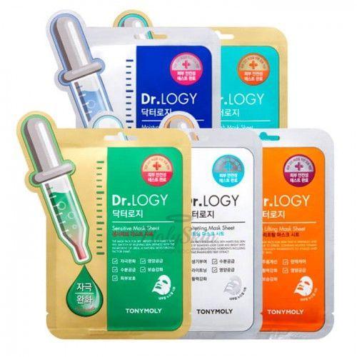 Купить Листовые маски для профессионального ухода за кожей. Tony Moly, Dr. Logy Mask Sheet, Южная Корея