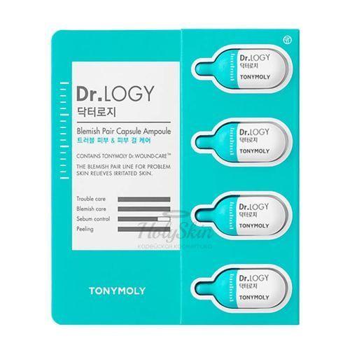 Купить Капсульная эссенция специально создана для интенсивного воздействия и ухода за проблемной кожей. Tony Moly, Dr. Logy Blemish Pair Capsule Ampoule, Южная Корея