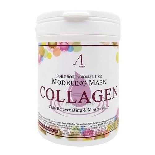 Альгинатная маска с коллагеном Anskin Collagen Modeling Mask (Container) фото