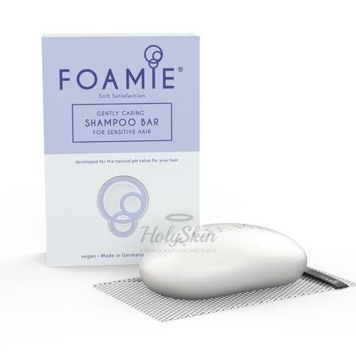 Твердый шампунь для тонких волос в сетчатом чехле Foamie