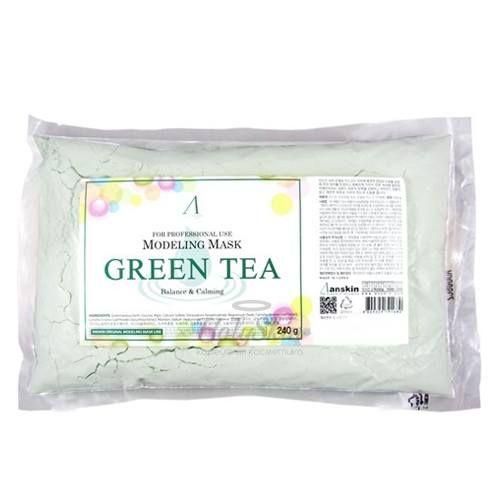 Купить Альгинатная маска в зелёным чаем Anskin, Green Tea Modeling Mask (Refill), Южная Корея