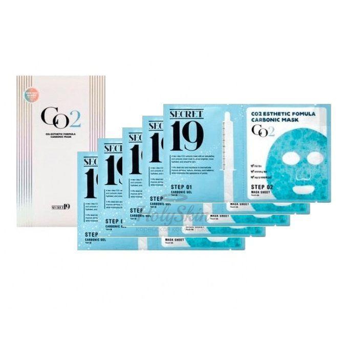 Купить Набор из пяти масок для карбокситерапии Esthetic House, CO2 Esthetic Formula Carbonic Mask Pack, Южная Корея