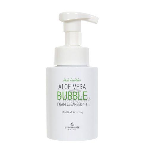 Очищающая пузырьковая пенка с алоэ The Skin House Aloe Vera Bubble Foam Cleanser 300ml фото