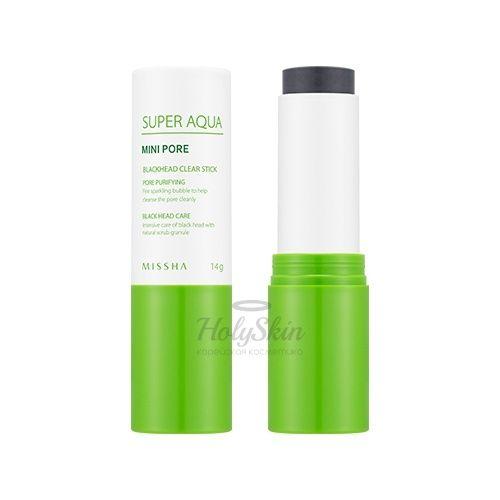 Купить Очищающий стик Missha, Super Aqua Mini Pore Black Head Clear Stick, Южная Корея