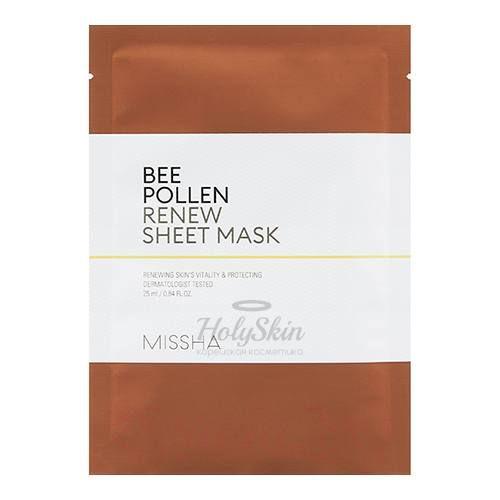 Купить Восстанавливающая тканевая маска Missha, Bee Pollen Renew Sheet Mask, Южная Корея