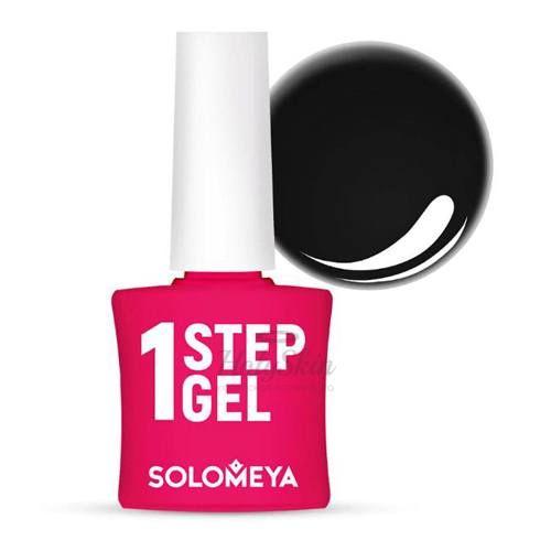 Купить Однофазный гель-лак насыщенного черного цвета Solomeya, One Step Gel 23 Night, Великобритания