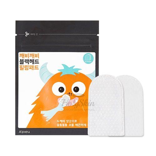 Купить Пилинг-диски для очищения пор A'Pieu, Goblin Blackhead Peeling Pad, Южная Корея