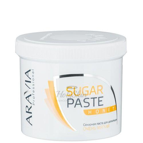 Купить Сахарная паста для шугаринга мягкой консистенции Медовая Aravia Professional, Aravia Professional Sugar Paste Honey 750 г, Россия