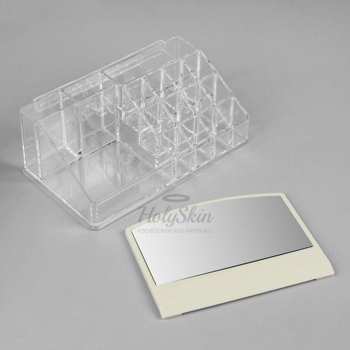 Органайзер косметический с зеркалом на 16 секций HS, Органайзер с зеркалом 16 секций 22×13×19, Китай  - Купить