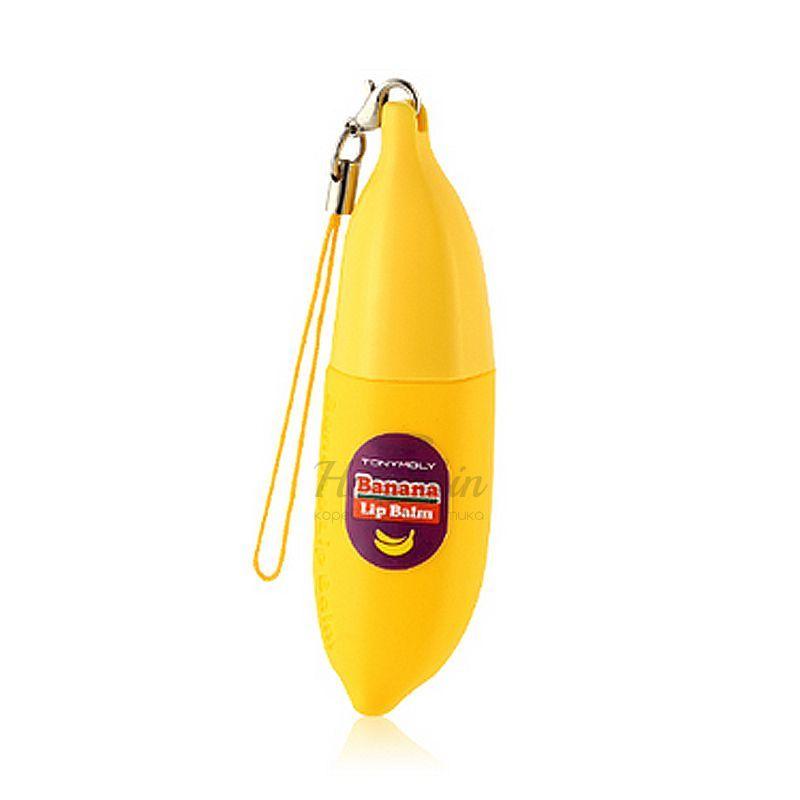 Купить Банановый бальзам для губ Tony Moly, Delight Dalcom Banana Pong-Dang Lip Balm, Южная Корея