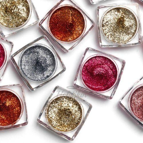 Паста-глиттер для  макияжа глаз MakeUp Revolution