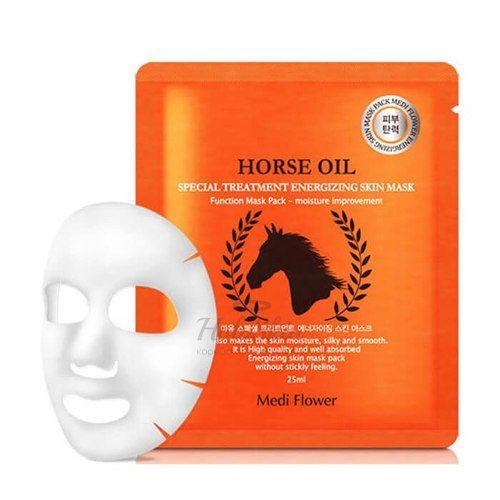 Купить Маска с лошадиным маслом Medi Flower, Special Treatment Energizing Mask Pack Horse Oil 5pcs, Южная Корея
