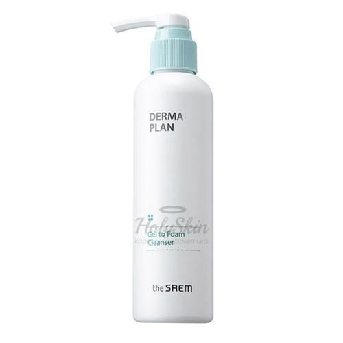 Очищающий гель для чувствительной кожи The Saem Derma Plan Gel To Foam Cleanser фото