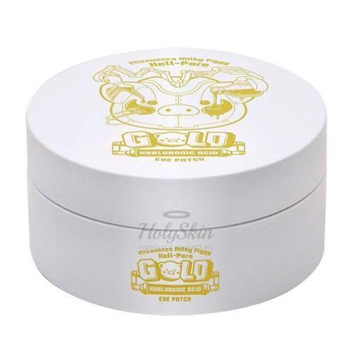 Купить Увлажняющие гидрогелевые патчи для век Elizavecca, Milky Piggy Hell-Pore Gold Hyaluronic Acid Eye Patch, Южная Корея