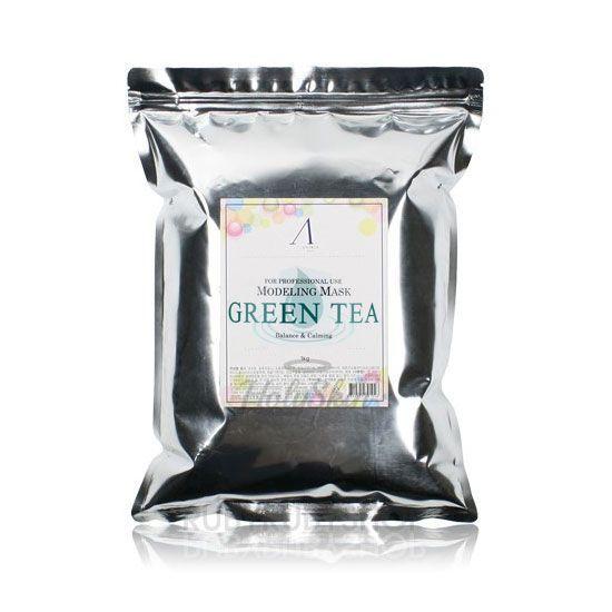 Купить Альгинатная маска с зеленым чаем Anskin, Green Tea Modeling Refill (1kg), Южная Корея