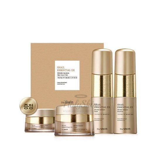 Snail Essential EX Wrinkle Solution Skin Care 3 Set отзывы