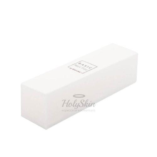 Купить Абразивный четырехсторонний блок для шлифовки ногтей Masura, Basic By Masura Блок белый, Россия