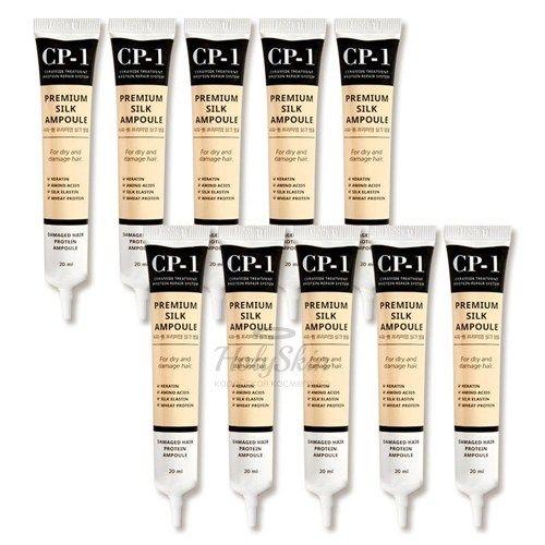 Купить Набор сывороток для волос Esthetic House, CP-1 Premium Silk Ampoule 10 pcs, Южная Корея