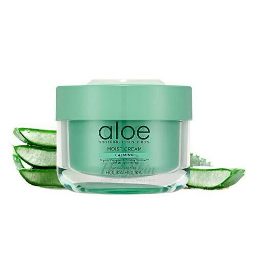 Купить Успокаивающий увлажняющий крем с алоэ вера Holika Holika, Aloe Soothing Essence 80% Moist Cream, Южная Корея