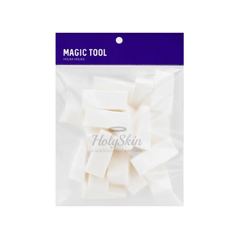 Спонжи для тональной основы 20 штук Holika Holika Magic Tool Foundation Sponge 20pcs фото