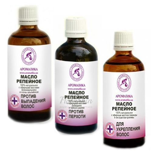 Косметическое масло для укрепления волос Ароматика