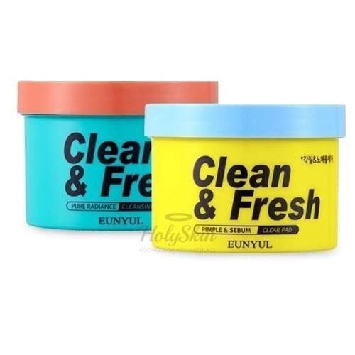 Очищающие диски для снятия макияжа 70 штук Eunyul, Clean and Fresh Cleansing Pad, Южная Корея  - Купить