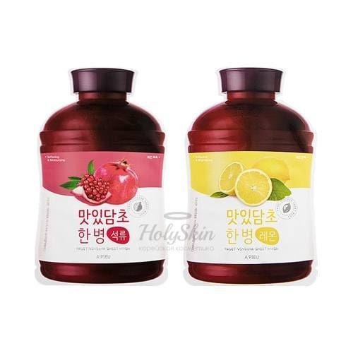 Купить Тканевая маска для лица с фруктовыми экстрактами A'Pieu, Fruit Vinegar Sheet Mask, Южная Корея