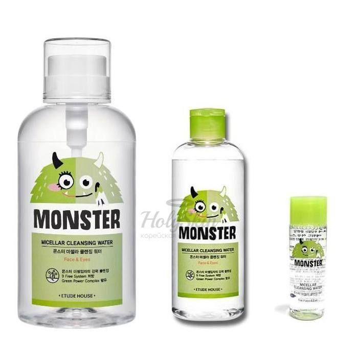 Мицеллярная вода с экстрактом алоэ Etude House Monster Micellar Cleansing Water