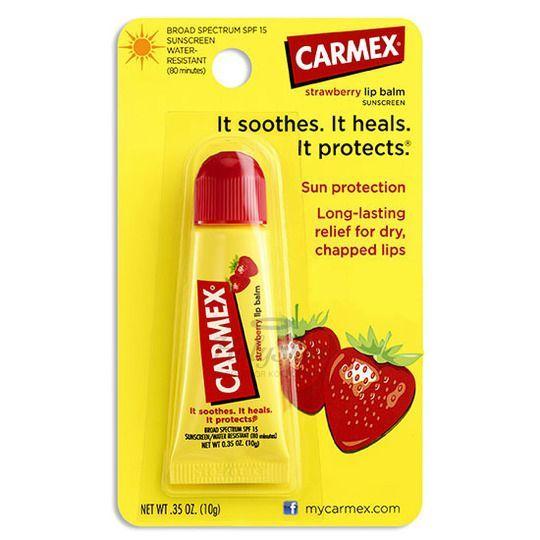 Купить Бальзам для губ с ароматом клубники Carmex, Carmex Lip Balm Strawberry Tube 10g, США