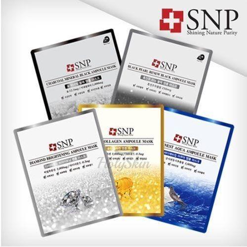 Купить Тканевая маска для лица SNP, SNP Ampoule Mask, Южная Корея