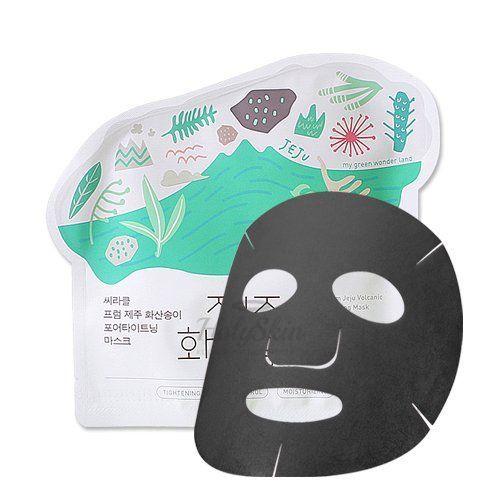 Очищающая угольная тканевая маска Ciracle Jeju Volcanic Pore-Tightening Mask фото