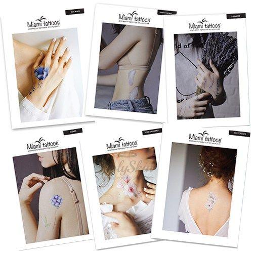 Белые переводные 3D татуировки Miami Tattoos Белые переводные тату фото