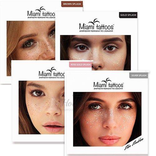 Купить Переводные татуировки-веснушки Miami Tattoos, Переводные тату-веснушки, Южная Корея