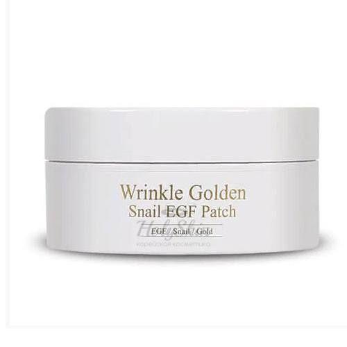 Купить Гидрогелевые патчи для глаз с эпидермальным фактором роста The Skin House, Wrinkle Golden Snail EGF Patch, Южная Корея