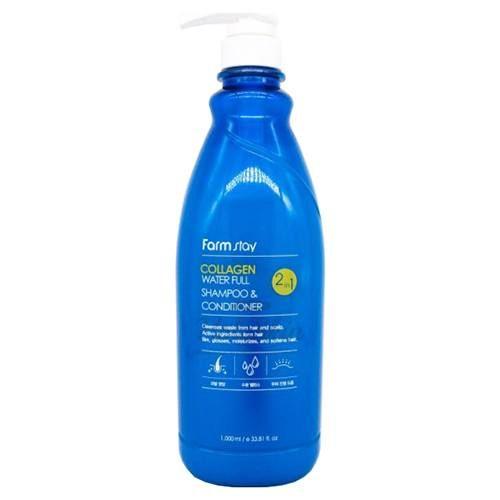 Купить Шампунь-кондиционер с коллагеном Farmstay, Collagen Water Full Moist Shampoo and Conditioner, Южная Корея