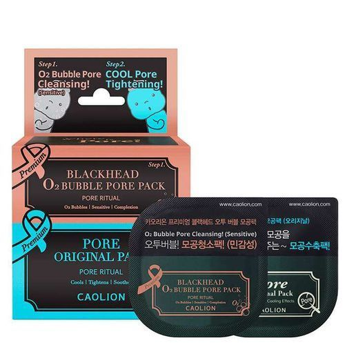 Купить Набор масок для очищения и сужения пор Caolion, Premium O2 Bubble and Cool Pore Pack Duo Deluxe, Южная Корея
