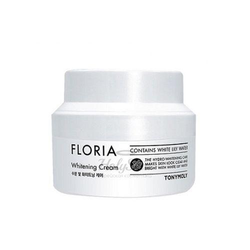 Увлажняющий и осветляющий крем для лица Tony Moly Floria Whitening Cream фото